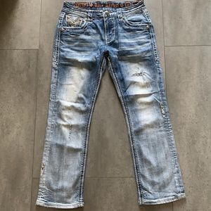 Rock Revival Men's Pruitt Straight Jeans Size 31